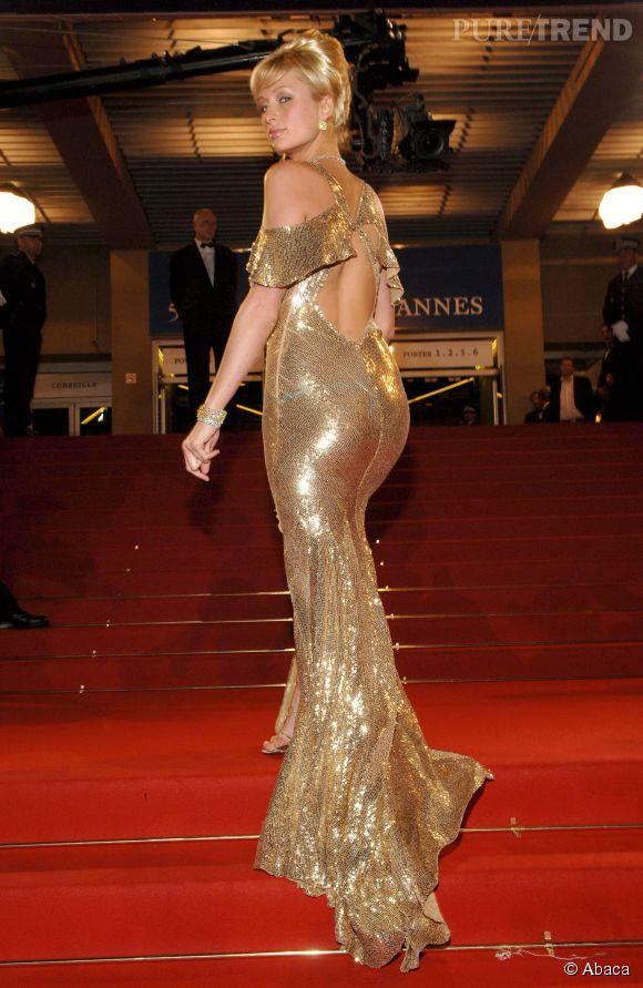 Paris Hilton fait sûrement plus d'effet de dos que de face en 2005.