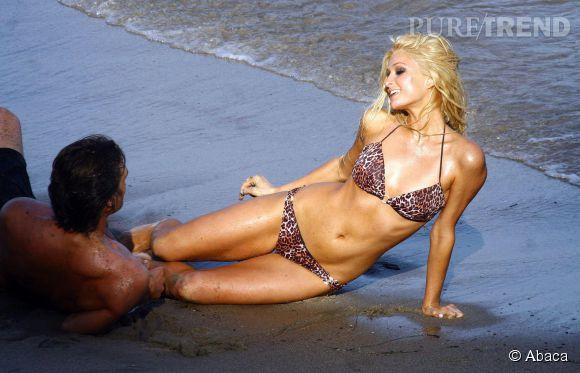 Paris Hilton en plein travail en 2006.