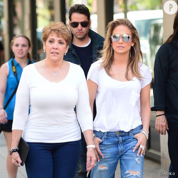Jennifer Lopez et sa mère Guadalupe.