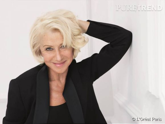 Helen Mirren, 69 ans, a rejoint la team L'Oréal Paris.
