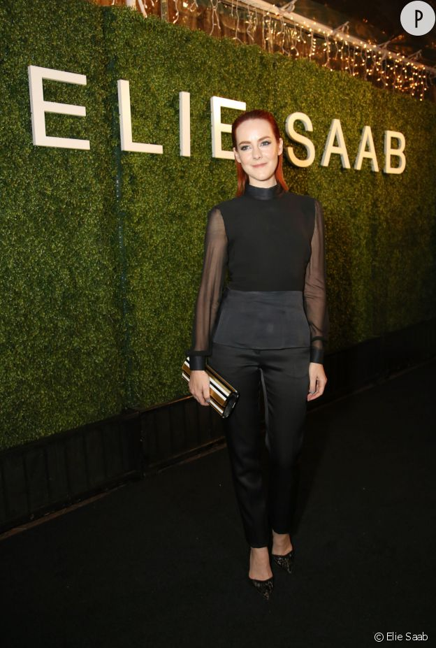 Emily Blunt à la soirée Elie Saab de ce jeudi 13 novembre 2014.
