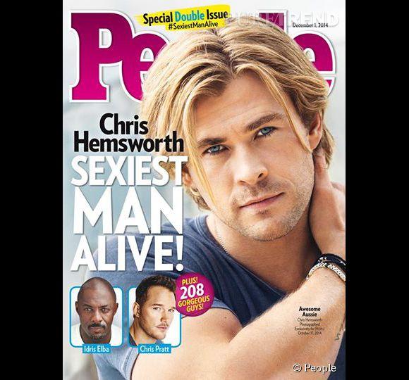 Chris Hemsworth, l'homme vivant le plus sexy de l'année 2014 selon People.