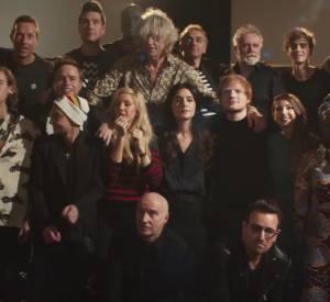 "Clip de la chanson ""Do They Know It's Christmas ?"" avec Ed Sheeran, Bono ou encore Seal pour la version en anglais."