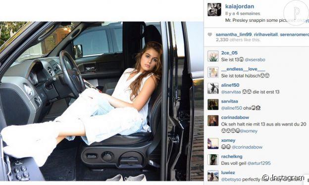 Kaia Gerber prend la pose sur Instagram.