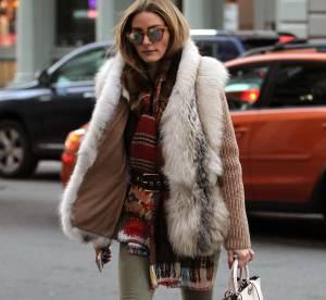 Olivia Palermo : fourrure et cuissardes, le look à shopper !
