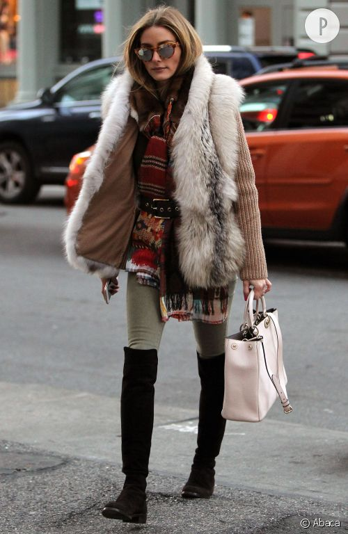 Olivia Palermo et son look hivernal à adopter !