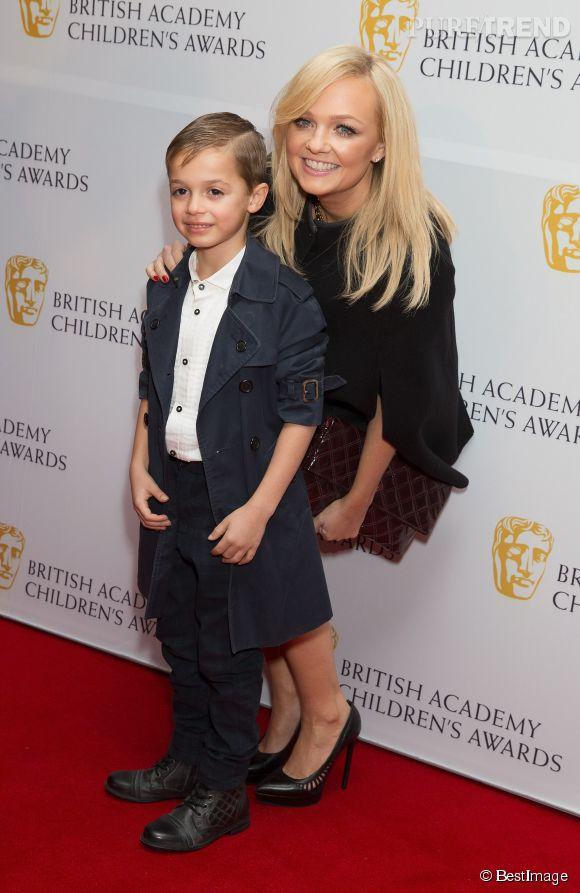 Emma Bunton est maman de deux enfants, Beau et Tate. Ici, elle pose avec Beau, né en 2007.