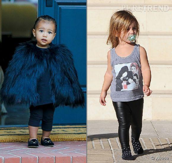 North West et Penelope Kardashian, le match des mini fashionistas.