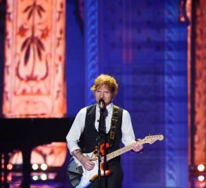 Ed Sheeran lors du défilé Victoria's Secret 2014.
