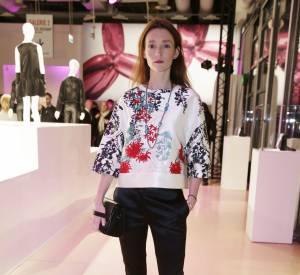 Audrey Marnay à la soirée Jeff Koons X H&M au Centre Pompidou le 9 décembre 2014.