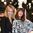 Pauline Lefèvre et Daphné Bürki à la soirée Jeff Koons X H&M au Centre Pompidou le 9 décembre 2014.