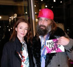 Audrey Marnay et Sébastien Tellier à la soirée Jeff Koons X H&M au Centre Pompidou le 9 décembre 2014.