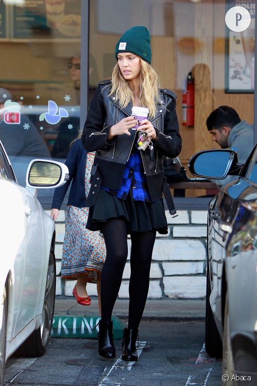Jessica Alba : son look mignon et rock qu'on lui pique !