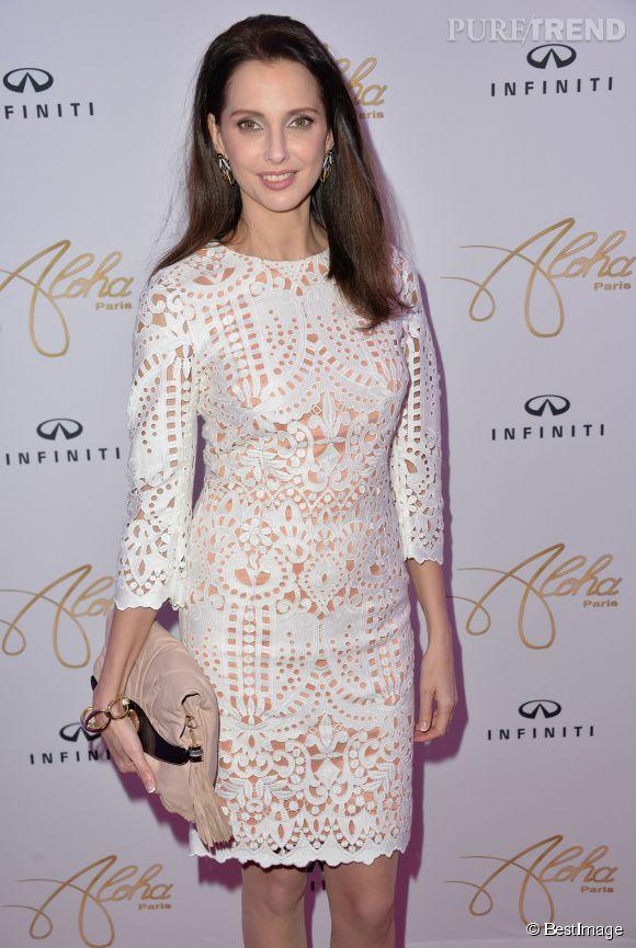 Férdérique Bel à la soirée anniversaire de la marque Aloha Paris Luxe aux Salons Hoches à Paris le 19 décembre 2014.