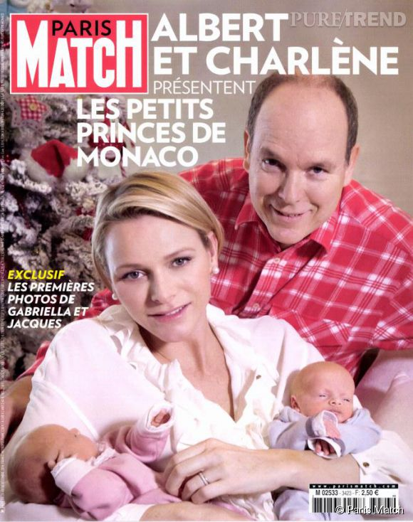 Charlène et Albert de Monaco se livrent dans les pages de Paris Match du 26 décembre 2014.