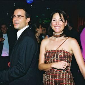 """Evelyne Thomas et Jean-Luc Delarue à la belle époque de """"C'est mon choix"""" en 2000."""