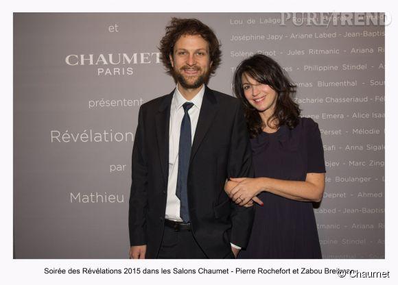 """Pierre Rochefort et Zabou Breitman à la soirée des """"Révélations 2015"""" des César en partenariat avec Chaumet."""