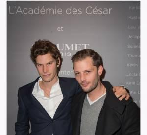 """Jean-Baptiste Lafarge et Nicolas Duvauchelle à la soirée des """"Révélations 2015"""" des César en partenariat avec Chaumet."""