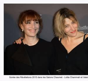 """Lolita Chammah et Valéria Bruni-Tedeschi à la soirée des """"Révélations 2015"""" des César en partenariat avec Chaumet."""