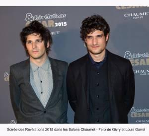 """Félix de Givry et Louis Garrel à la soirée des """"Révélations 2015"""" des César en partenariat avec Chaumet."""