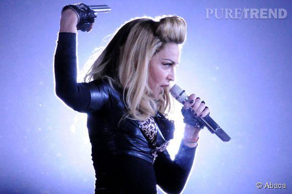 Lorsqu'elle est sur scène, Madonna donne tout.