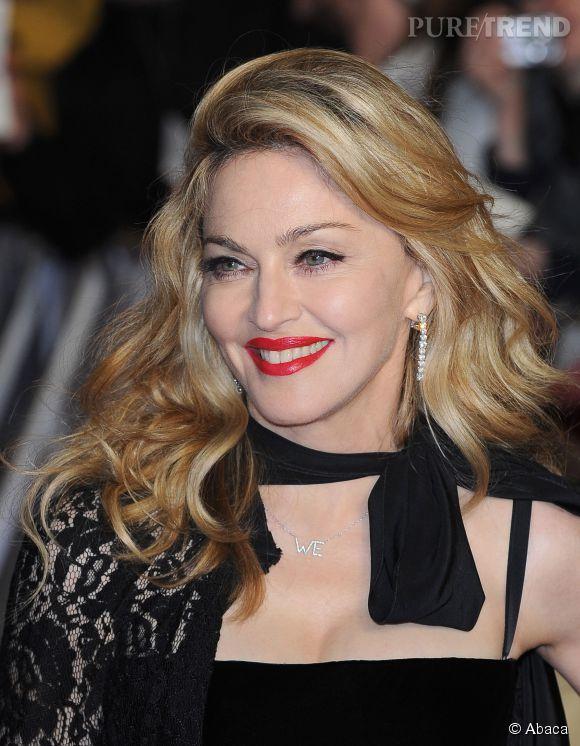 Madonna rayonne sur les tapis rouges.