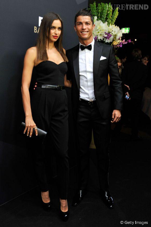 Irina Shayk et Cristiano Ronaldo au gala du  Ballon d'Or FIFA 2012. En janvier 2015, elle était absente pour la céramonie du Ballon d'Or 2014.