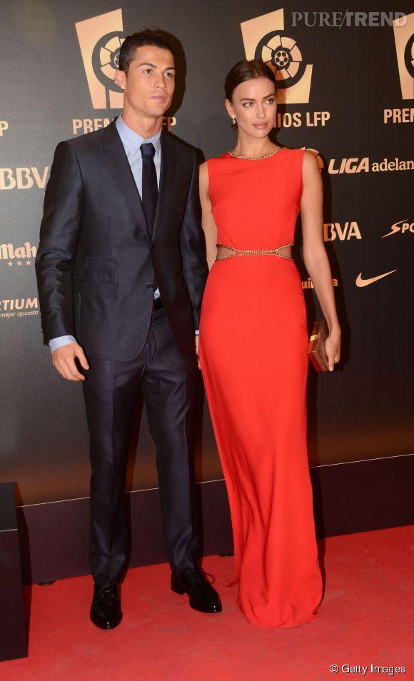 Irina Shayk et Cristiano Ronaldo lors de leur dernière apparition en duo au gala des LFP Awards 2014. Ils ont officialisé leur séparation en ce mois de janvier 2015.