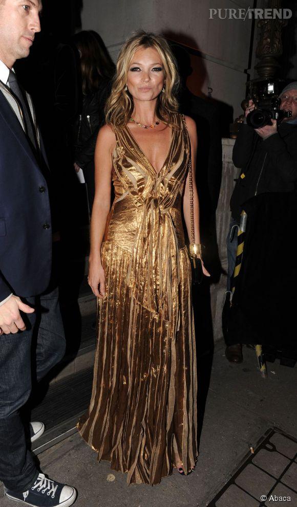 Kate Moss, divinité étincelante en 2011.