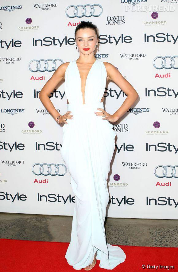 Miranda Kerr, une déesse drapée en Carla Zampatti aux  Women of Style Awards 2012.