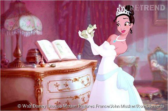 """Tiana, première princesse afro-américaine dans """"La Princesse et la grenouille""""."""