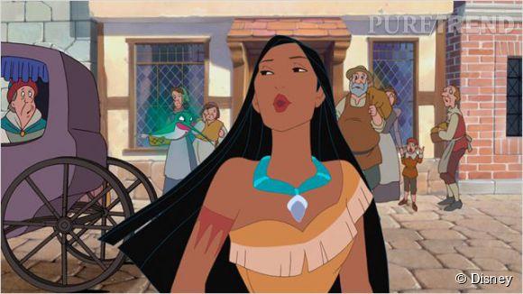 Pocahontas, héroine Disney d'origine amérindienne.