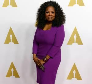Oprah Winfrey au déjeuner des nominés aux Oscars le 2 février 2015 à Beverly Hills.