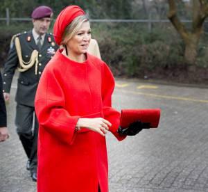 Reine Maxima : une souveraine chic et explosive en total look rouge !