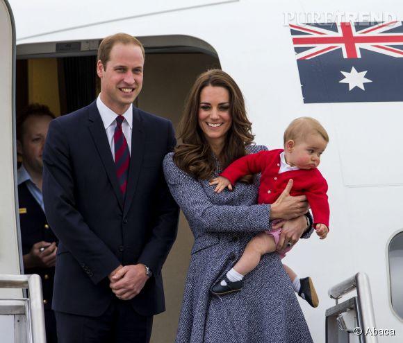 Kate, William et George pendant leur tournée australienne.