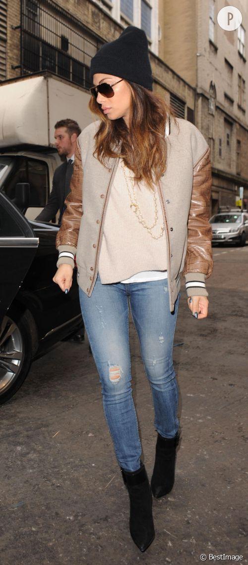 Nicole Scherzinger dans les rues de Londres le 4 février 2015.