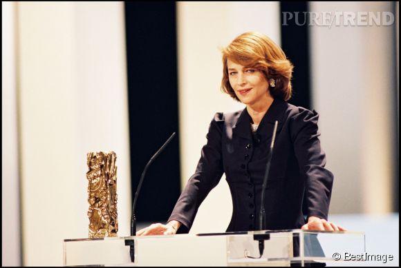 Charlotte Rampling reçoit un César d'honneur pour l'ensemble de sa carrière en 2001.