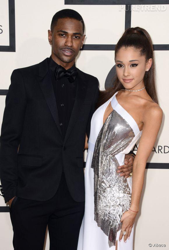 Ariana Grande en compagnie de Big Sean au Staples Center à Los Angeles.