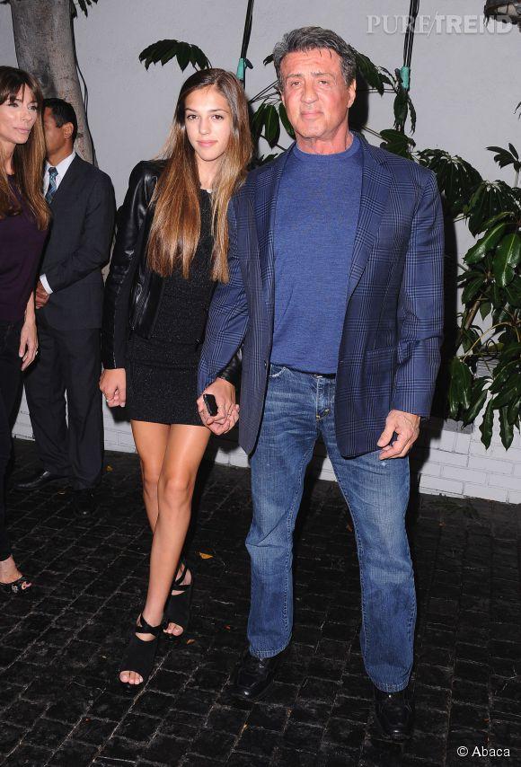 Sylvester Stallone, papa est fier de sa fille Sistine.