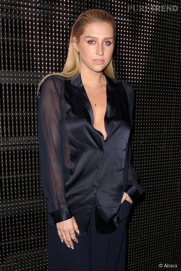 Kesha : à peine reconnaissable lors du défilé DKNY à New York.
