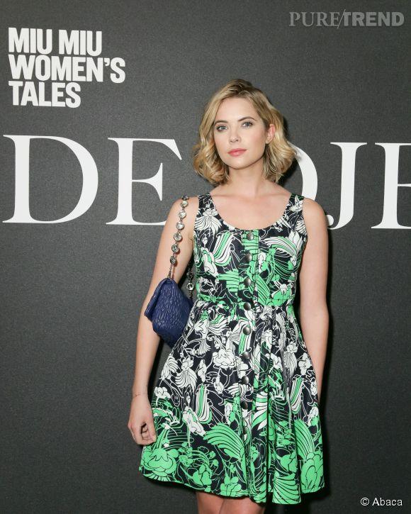 Ashley Benson, apparition fraîche et sensuelle durant la Fashion Week new-yorkaise.