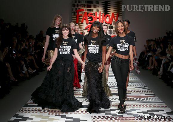 Naomi Campbell fait défiler tout le gratin de Londres pour le défilé Fashion For Relief à Londres le 20 février 2015.
