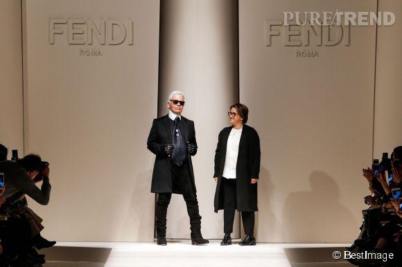 Karl Lagerfeld a célébré ses 50 ans de collaboration avec Fendi lors de ce défilé prêt-à-porter Automne-Hiver 2015-2016.