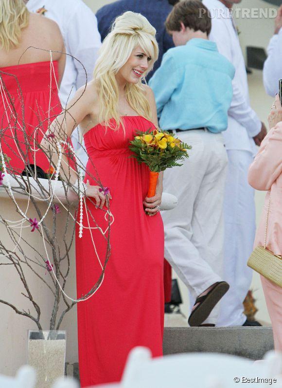 Shayne Lamas, fille de Lorenzo Lamas, lors du mariage de son père avec Shawna Craig.