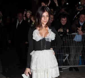 Julia Restoin Roitfeld au défilé Givenchy Automne-Hiver 2015/2016, ce dimanche 8 mars 2015.