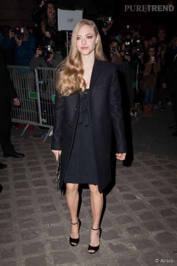 Amanda Seyfried au défilé Givenchy Automne-Hiver 2015/2016, ce dimanche 8 mars 2015.