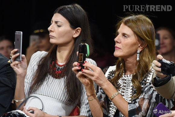 Anna Dello Russo au défilé Givenchy Automne-Hiver 2015/2016, ce dimanche 8 mars 2015.