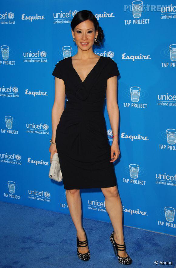 Lucy Liu chic et sexy à la fois.