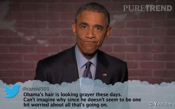 Barack Obama répond avec humour aux méchants tweets qui lui sont adressés.