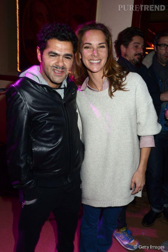 Mélissa Theuriau et Jamel Debbouze s'éclatent au Cirque d'hiver à Paris en novembre 2013.
